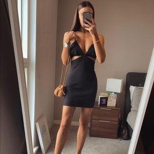 NWT Zara Side Slit Little Black Dress